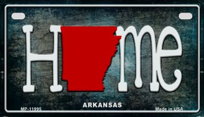 Arkansas Home State Outline Wholesale Novelty Motorcycle Plate MP-11995