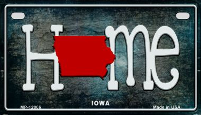 Iowa Home State Outline Wholesale Novelty Motorcycle Plate MP-12006