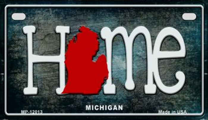 Michigan Home State Outline Wholesale Novelty Motorcycle Plate MP-12013