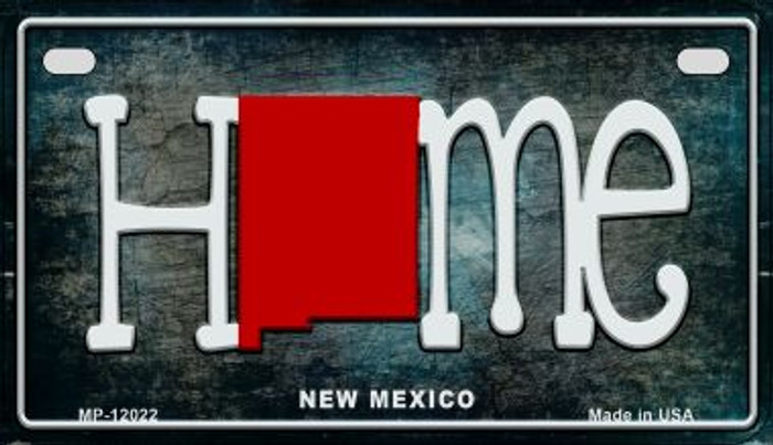 New Mexico Home State Outline Wholesale Novelty Motorcycle Plate MP-12022