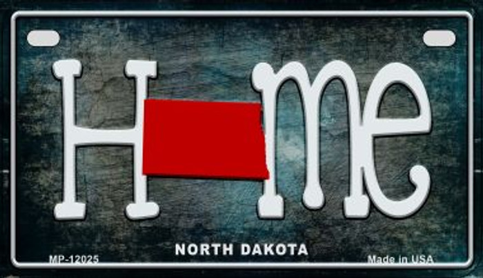 North Dakota Home State Outline Wholesale Novelty Motorcycle Plate MP-12025