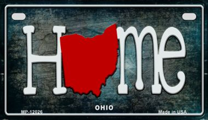 Ohio Home State Outline Wholesale Novelty Motorcycle Plate MP-12026