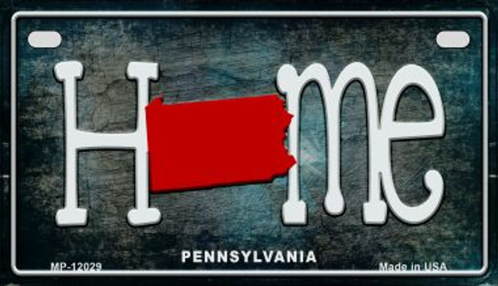 Pennsylvania Home State Outline Wholesale Novelty Motorcycle Plate MP-12029