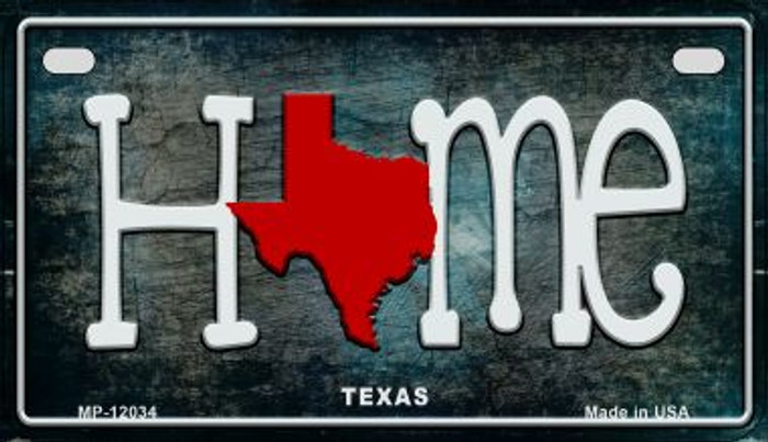 Texas Home State Outline Wholesale Novelty Motorcycle Plate MP-12034