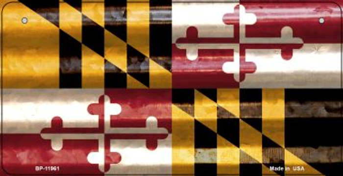 Maryland Corrugated Flag Wholesale Novelty Bicycle Plate BP-11961