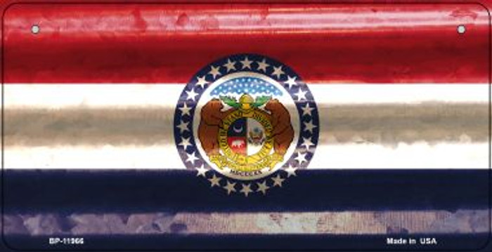 Missouri Corrugated Flag Wholesale Novelty Bicycle Plate BP-11966