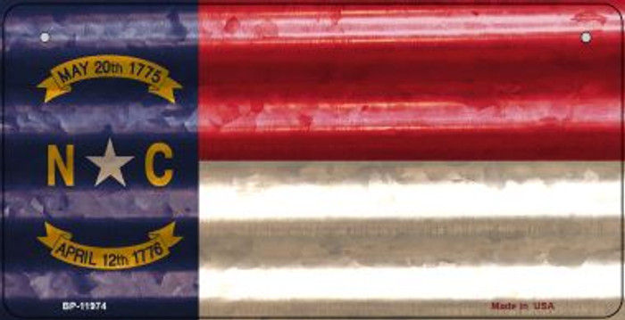 North Carolina Corrugated Flag Wholesale Novelty Bicycle Plate BP-11974