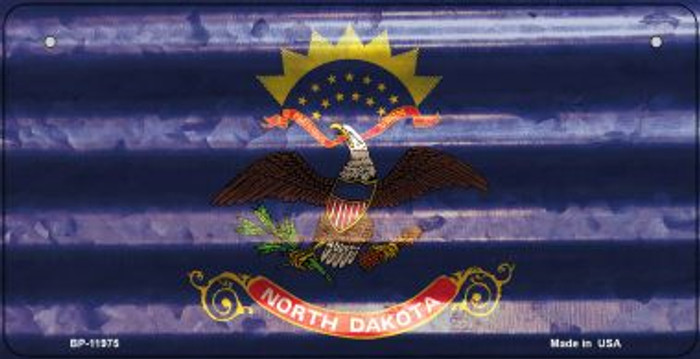 North Dakota Corrugated Flag Wholesale Novelty Bicycle Plate BP-11975