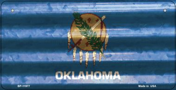 Oklahoma Corrugated Flag Wholesale Novelty Bicycle Plate BP-11977