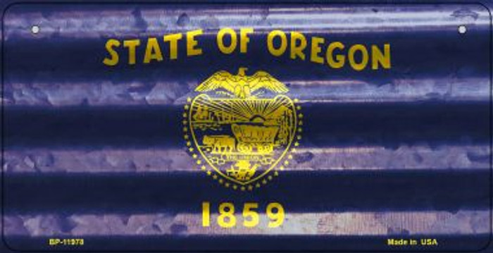 Oregon Corrugated Flag Wholesale Novelty Bicycle Plate BP-11978