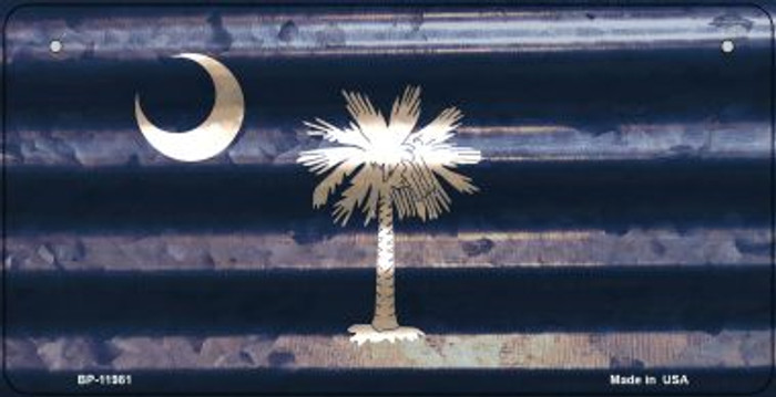 South Carolina Corrugated Flag Wholesale Novelty Bicycle Plate BP-11981