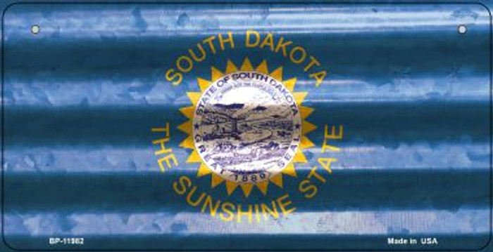 South Dakota Corrugated Flag Wholesale Novelty Bicycle Plate BP-11982