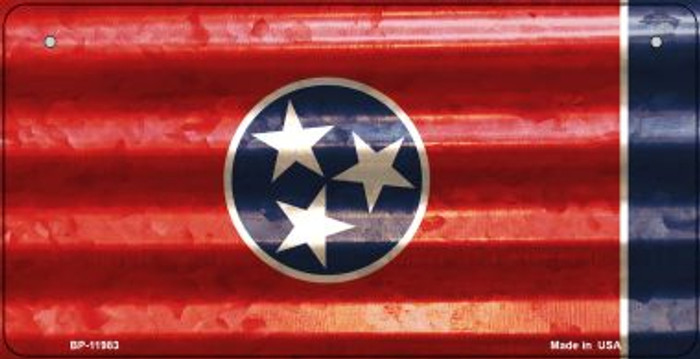 Tennessee Corrugated Flag Wholesale Novelty Bicycle Plate BP-11983