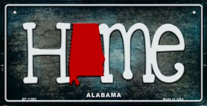 Alabama Home State Outline Wholesale Novelty Bicycle Plate BP-11992