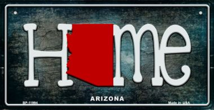 Arizona Home State Outline Wholesale Novelty Bicycle Plate BP-11994