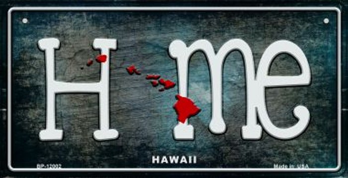 Hawaii Home State Outline Wholesale Novelty Bicycle Plate BP-12002