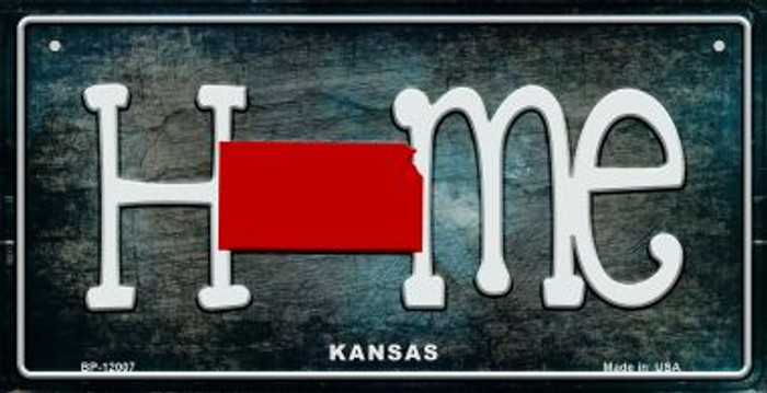 Kansas Home State Outline Wholesale Novelty Bicycle Plate BP-12007