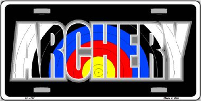 Archery Wholesale Metal Novelty License Plate LP-4787