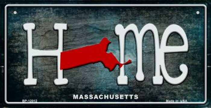 Massachusetts Home State Outline Wholesale Novelty Bicycle Plate BP-12012