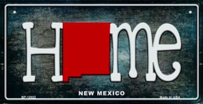 New Mexico Home State Outline Wholesale Novelty Bicycle Plate BP-12022