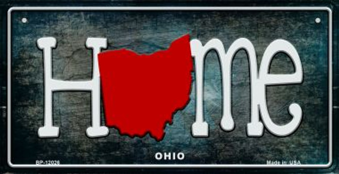 Ohio Home State Outline Wholesale Novelty Bicycle Plate BP-12026