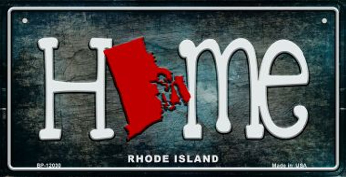 Rhode Island Home State Outline Wholesale Novelty Bicycle Plate BP-12030