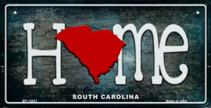 South Carolina Home State Outline Wholesale Novelty Bicycle Plate BP-12031
