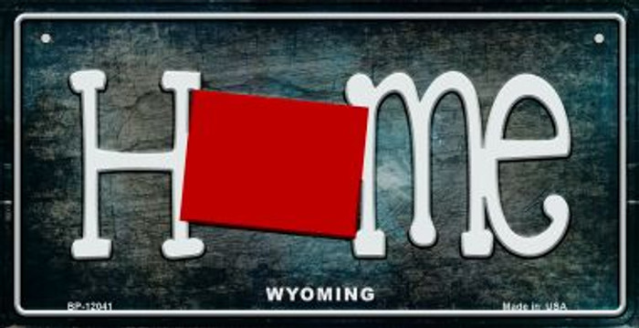 Wyoming Home State Outline Wholesale Novelty Bicycle Plate BP-12041