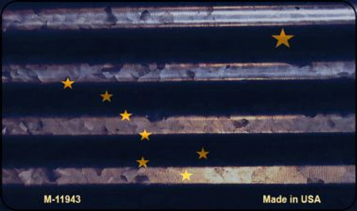 Alaska Corrugated Flag Wholesale Novelty Magnet M-11943