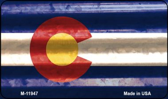 Colorado Corrugated Flag Wholesale Novelty Magnet M-11947