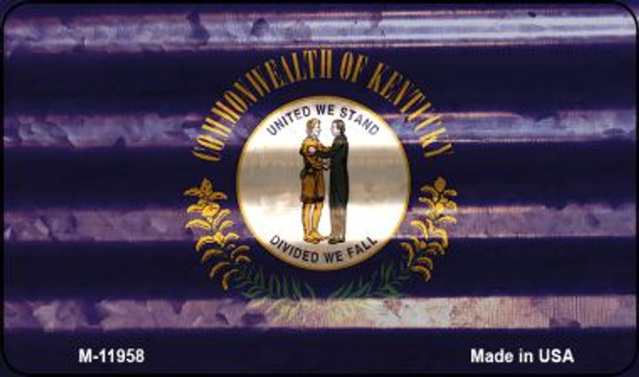 Kentucky Corrugated Flag Wholesale Novelty Magnet M-11958