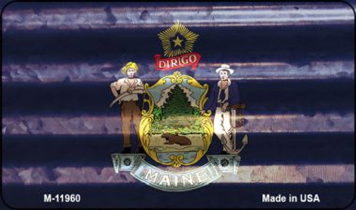 Maine Corrugated Flag Wholesale Novelty Magnet M-11960