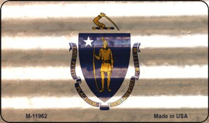 Massachusetts Corrugated Flag Wholesale Novelty Magnet M-11962