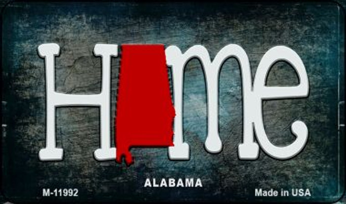 Alabama Home State Outline Wholesale Novelty Magnet M-11992