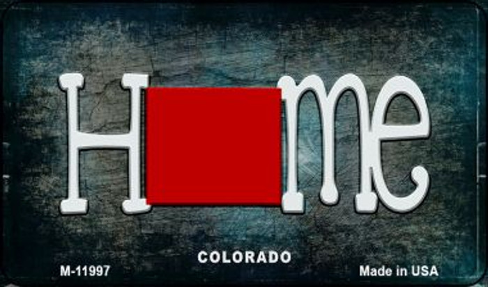 Colorado Home State Outline Wholesale Novelty Magnet M-11997