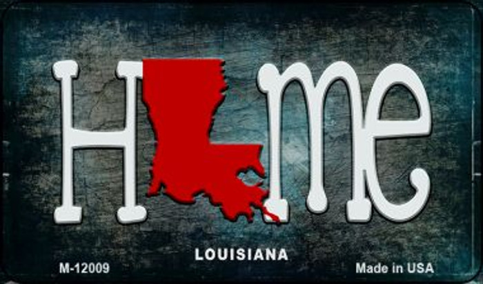Louisiana Home State Outline Wholesale Novelty Magnet M-12009