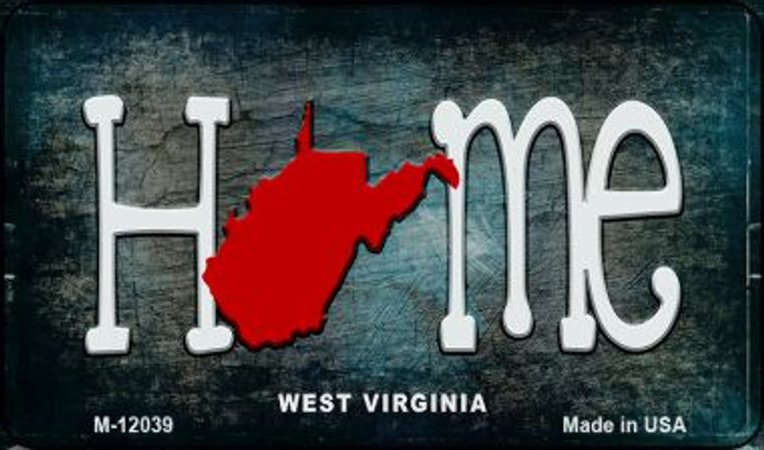 West Virginia Home State Outline Wholesale Novelty Magnet M-12039