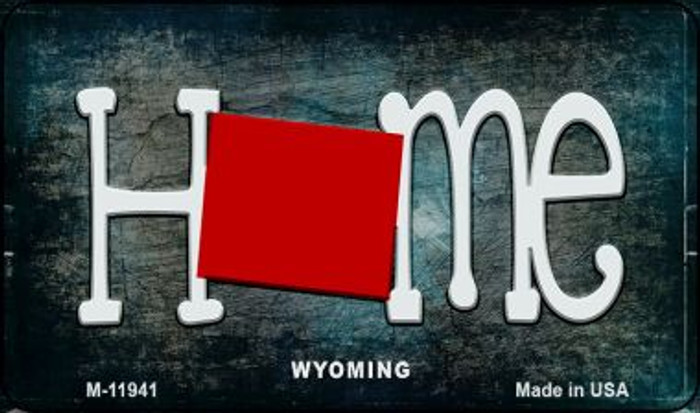 Wyoming Home State Outline Wholesale Novelty Magnet M-12041