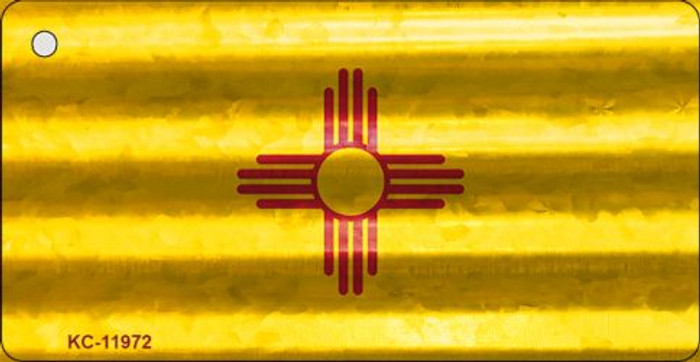 New Mexico Corrugated Flag Wholesale Novelty Key Chain KC-11972