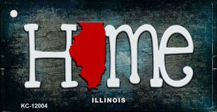 Illinois Home State Outline Wholesale Novelty Key Chain KC-12004