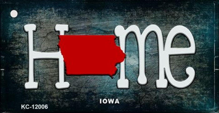 Iowa Home State Outline Wholesale Novelty Key Chain KC-12006