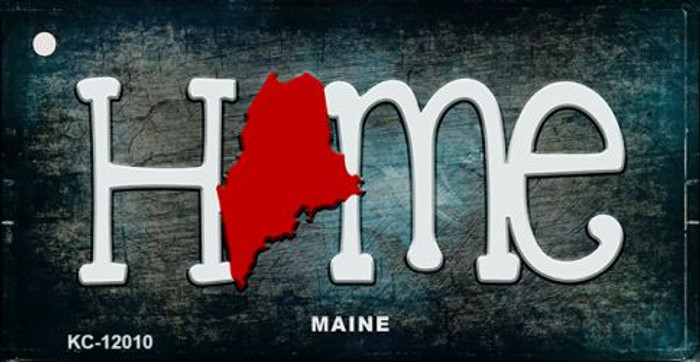 Maine Home State Outline Wholesale Novelty Key Chain KC-12010