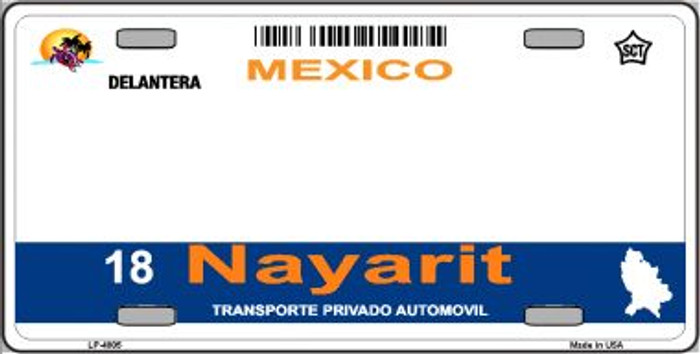 Nayarit Mexico Novelty Background Wholesale Metal License Plate LP-4805