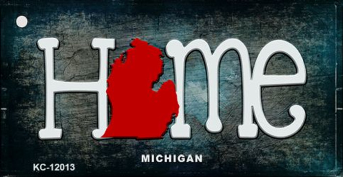 Michigan Home State Outline Wholesale Novelty Key Chain KC-12013