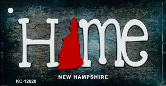 New Hampshire Home State Outline Wholesale Novelty Key Chain KC-12020