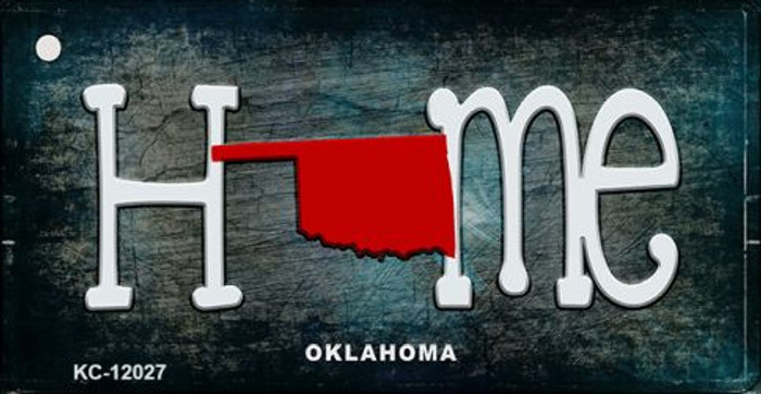 Oklahoma Home State Outline Wholesale Novelty Key Chain KC-12027