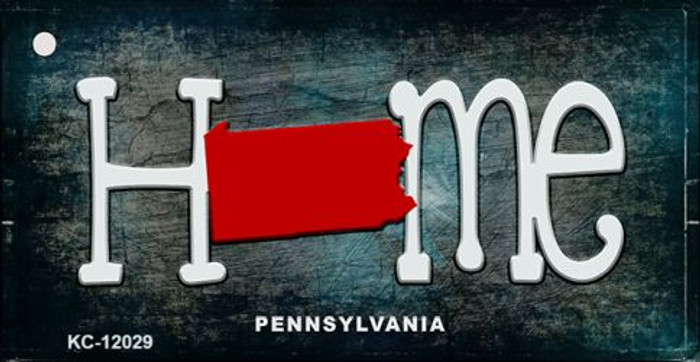 Pennsylvania Home State Outline Wholesale Novelty Key Chain KC-12029