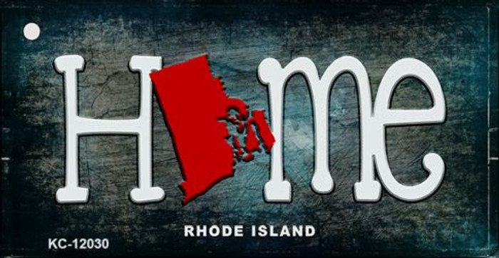 Rhode Island Home State Outline Wholesale Novelty Key Chain KC-12030