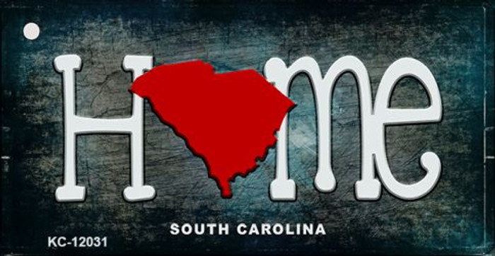South Carolina Home State Outline Wholesale Novelty Key Chain KC-12031