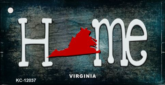 Virginia Home State Outline Wholesale Novelty Key Chain KC-12037